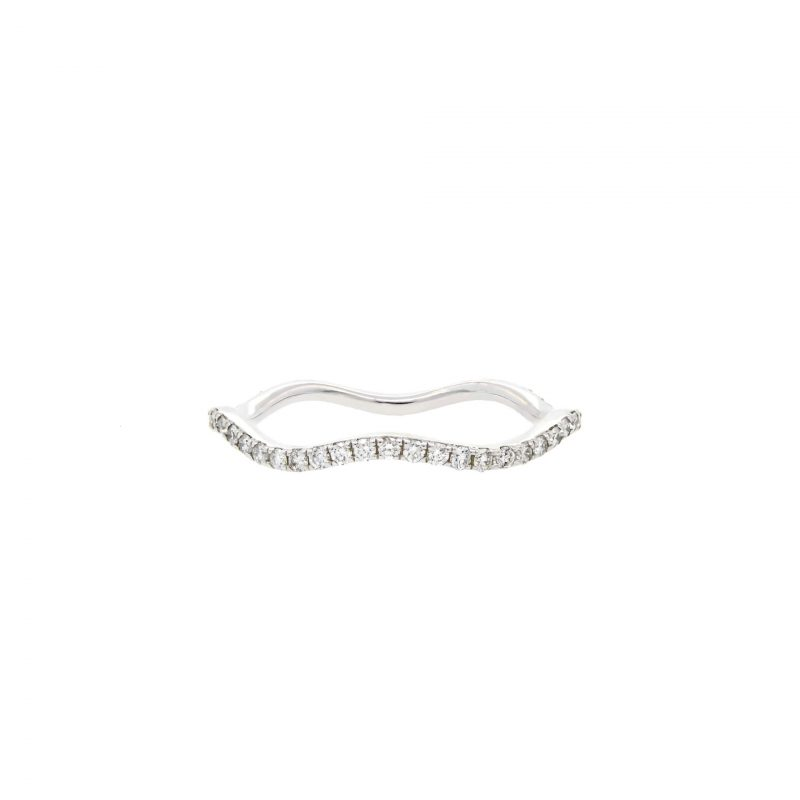 White Gold Curved Ring