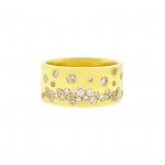 14K Yellow Gold Diamond Bubble Ring