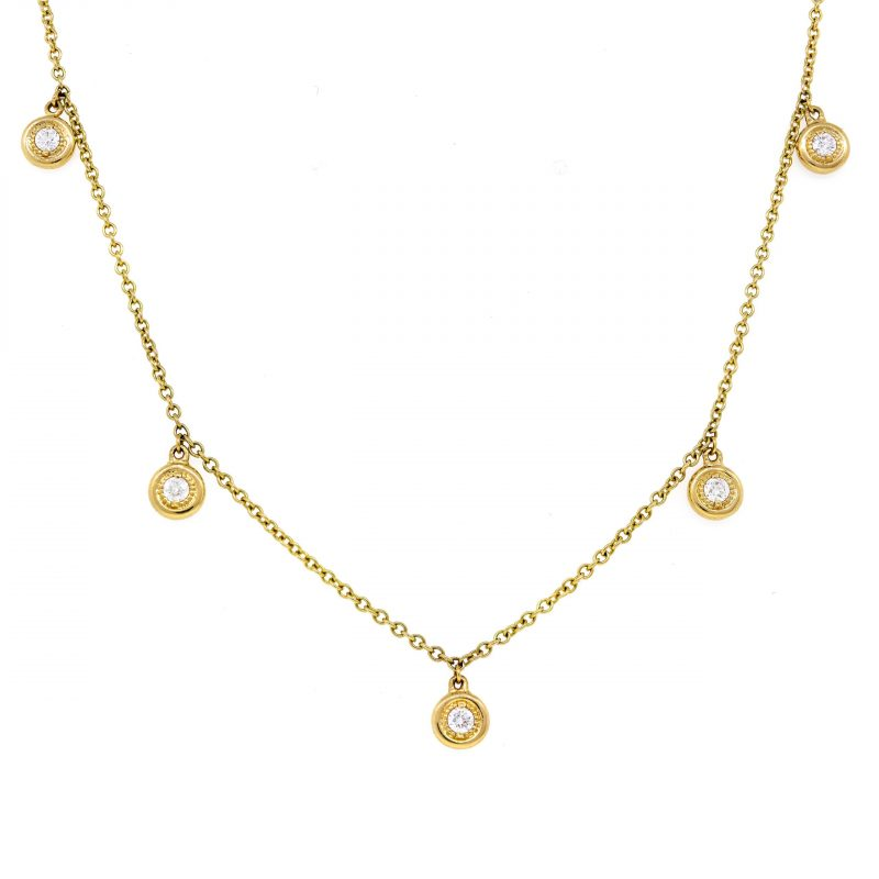 5-station diamond necklace