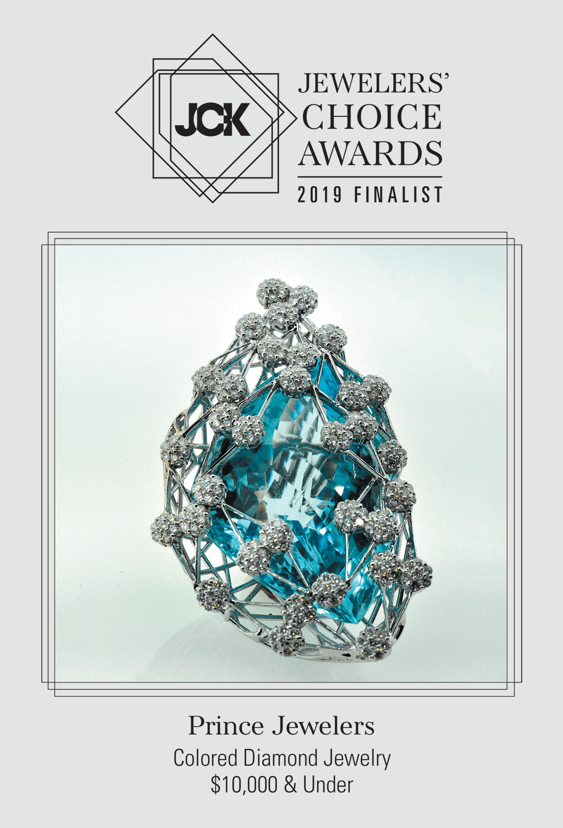 Jewelry Choice AWards 2019 Finalist for Colored Diamond Jewelry